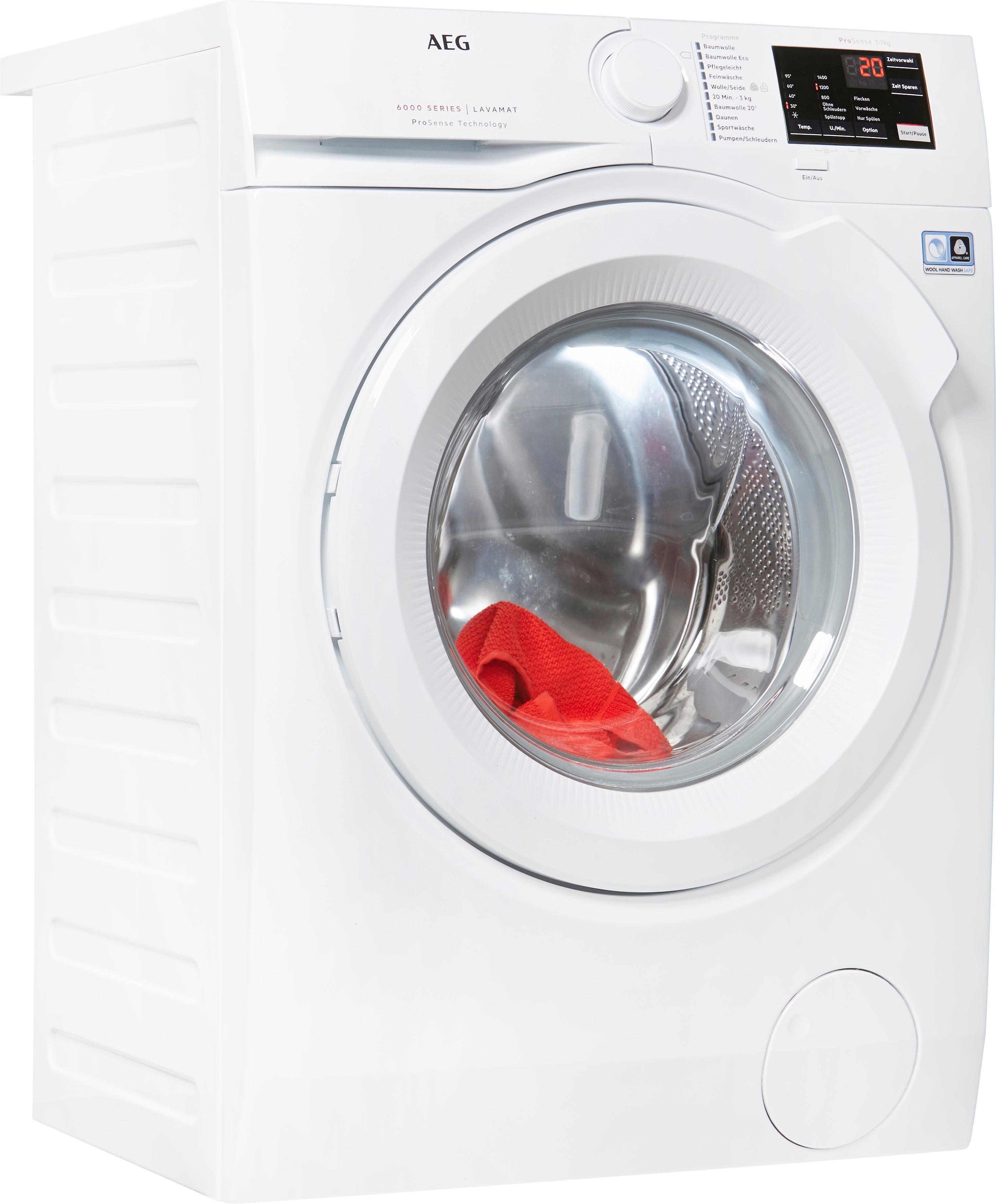 AEG Waschmaschine L6FB50472, 7 kg, 1400 U/Min