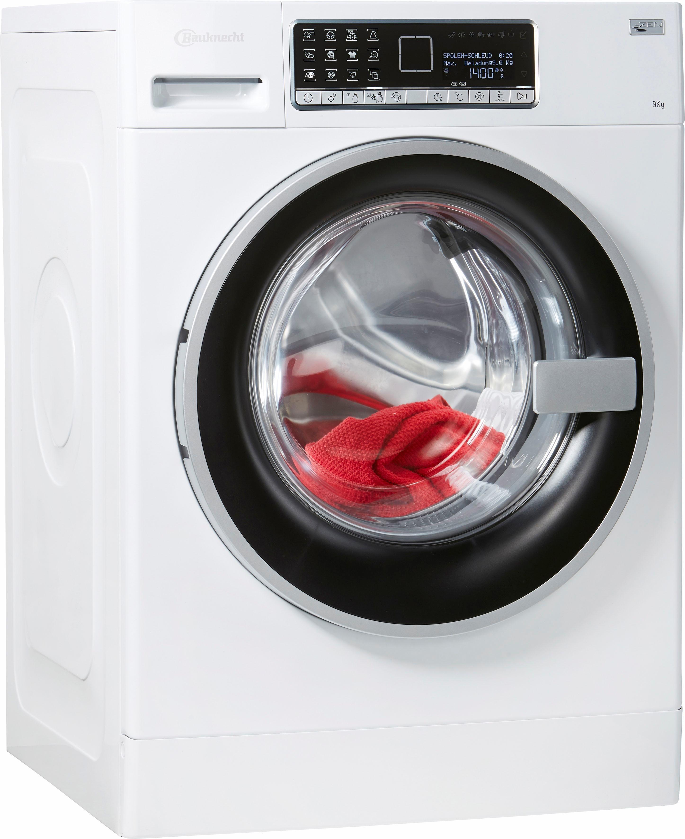 BAUKNECHT Waschmaschine WM Dos 9 Zen, 9 kg, 1400 U/Min, Automatische Dosierung CleverDose