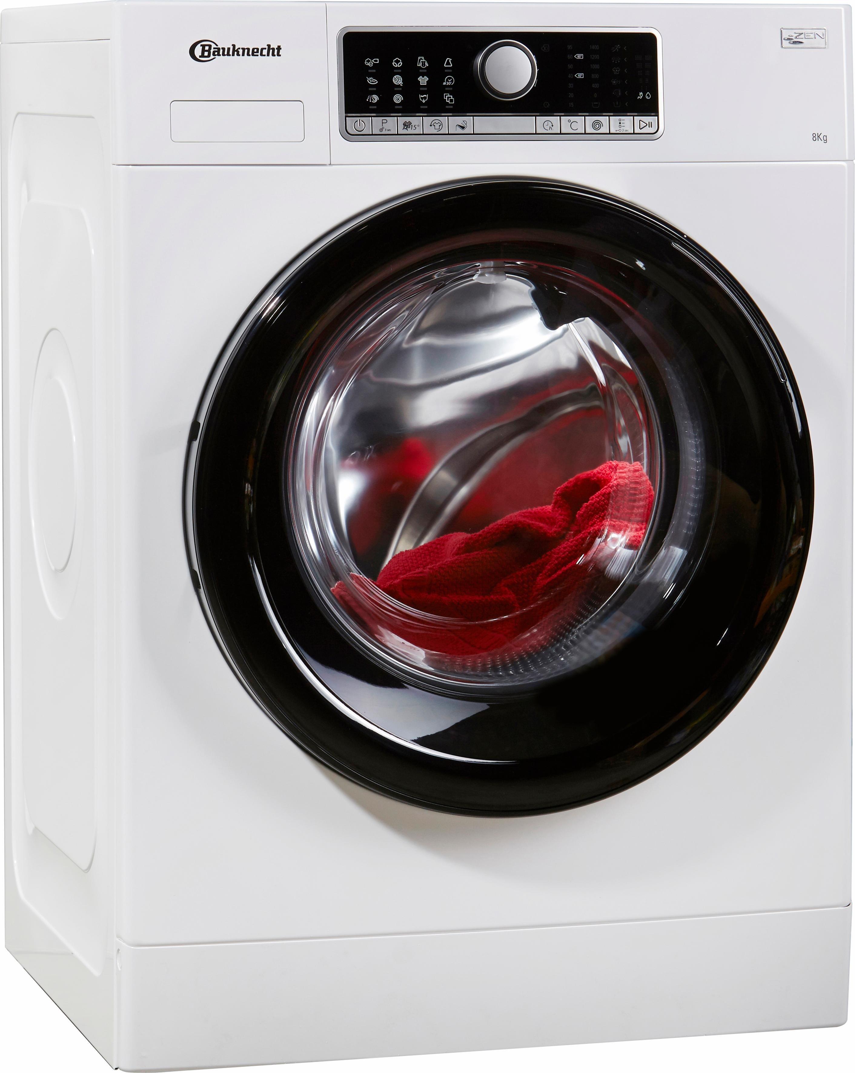 BAUKNECHT Waschmaschine WM Style 824 ZEN, 8 kg, 1400 U/Min