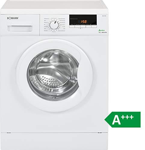 Bomann WA 5729 Waschmaschine Frontlader/EEK A+++ / 7 kg / 16 Programme / 1400 UpM/LED-Display/Schaumregulierung / weiß