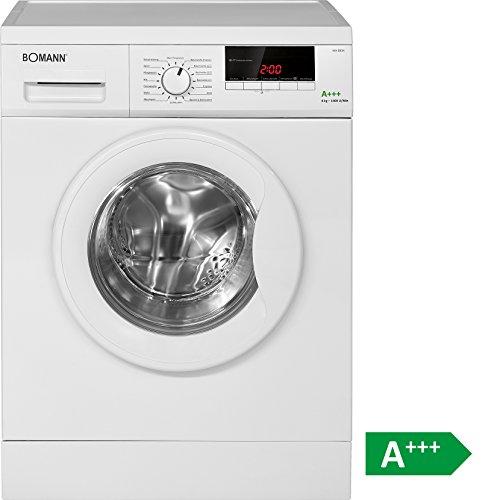 Bomann WA 5834 Waschmaschine FL / A+++ / 196 kWh/Jahr / 1400 UpM / 8 kg / 11000 L/Jahr / 8 kg Fassungsvermögen / weiß