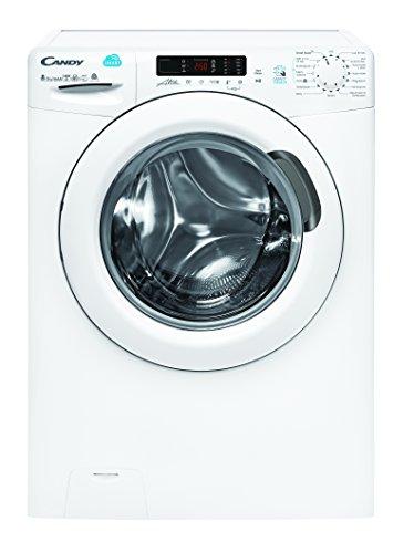 Candy CSW G485D Waschtrockner/a/1088 kWh/Jahr/1400 UpM/8 kg/12000 L/jahr/Waschen und Trocknen in nur 59 min/App-steuerbar dank NFC-Technologie/weiß