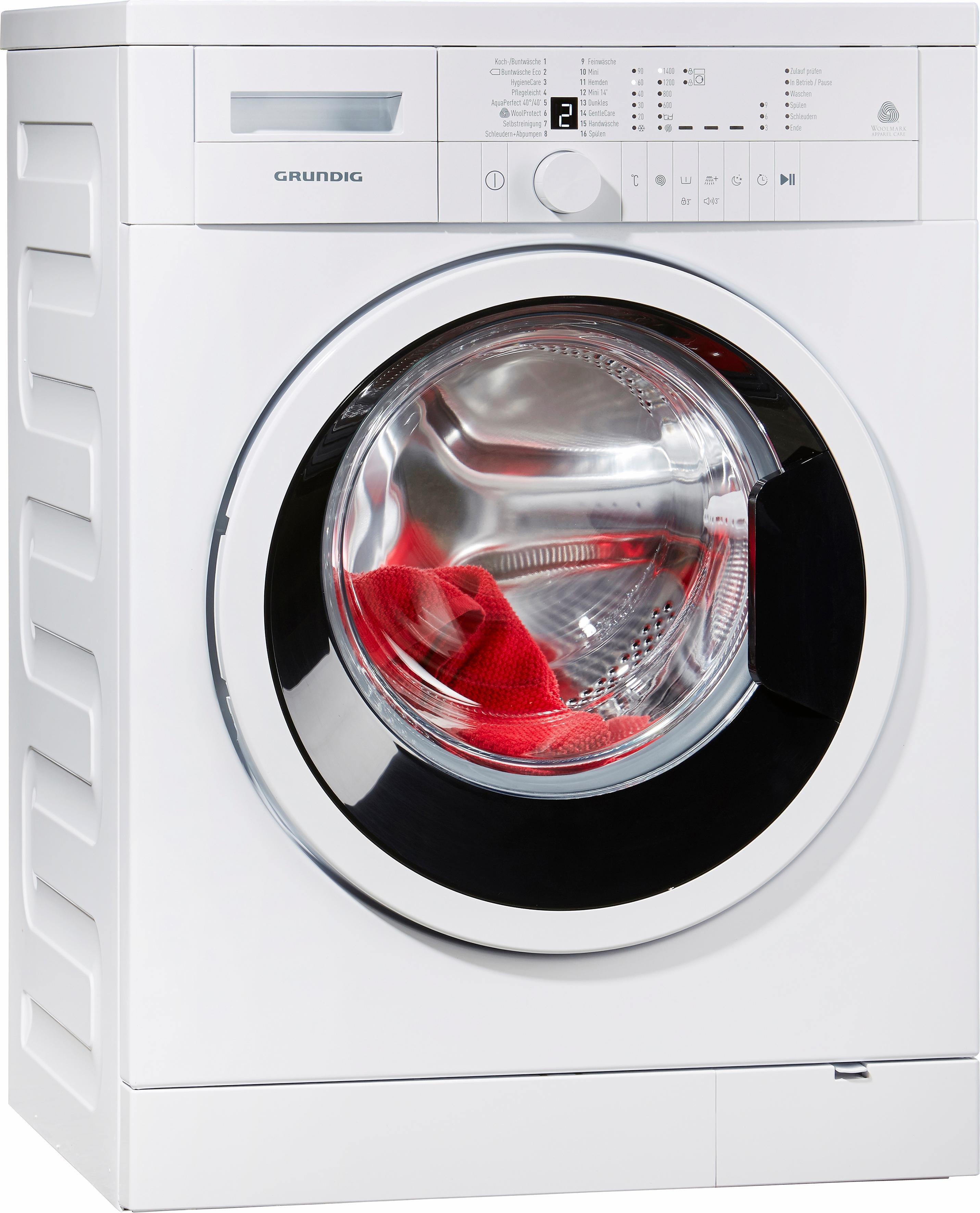 Grundig Waschmaschine GWN 26430, 6 kg, 1400 U/Min