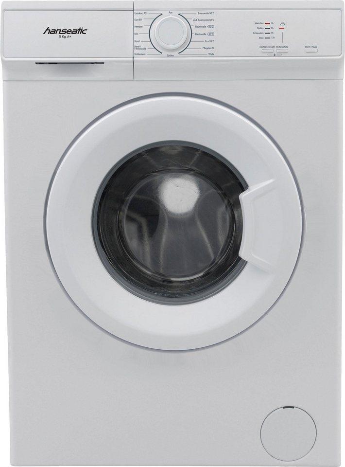 Hanseatic Waschmaschine HWM510A1, 5 kg, 1000 U/Min