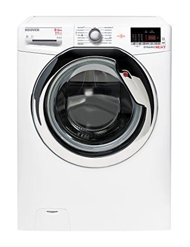 Hoover WDXOC G586C Waschtrockner/a / 1088 kWh/Jahr / 1500 UpM / 8 kg / 12000 L/jahr / Dampf-Funktion zum Auffrischen und zur Bügelerleichterung/App-steuerbar dank NFC-Technologie/weiß