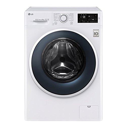 LG Electronics F 14WM 8EN0 Waschmaschine Frontlader/A+++/1400UpM/8 kg/weiß/NFC - Waschprgramm - Download/6 Motion DirectDrive