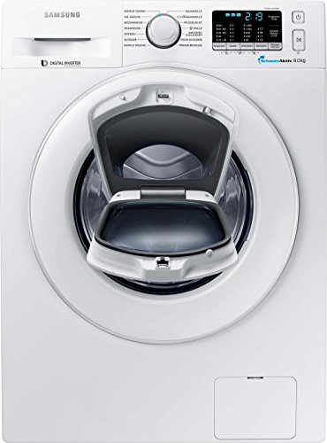 Samsung WW80K5400WW/EG Waschmaschine FL/A+++ / 116 kWh/Jahr / 1400 UpM / 8 kg/Weiß / Add Wash/Smart Check/Digital Inverter Motor