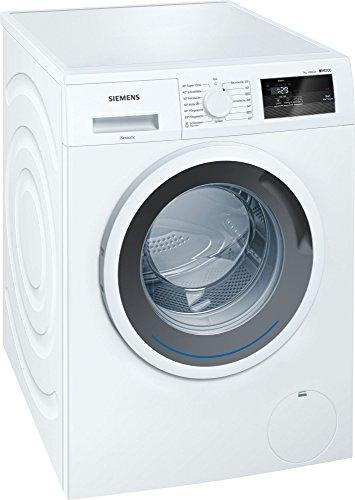 Siemens WM14N0A1 Waschmaschine Frontlader/A+++/1390 UpM/Großes Display mit Endezeitvorwahl/SpeedPerfect für 65 Prozent Zeitersparnis
