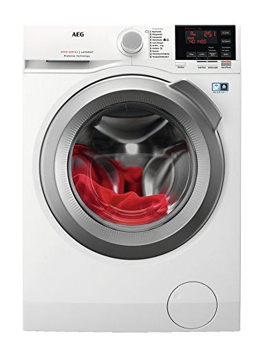 AEG L6FBA48 Waschmaschine Frontlader/Energieklasse A+++ (137,0 kWh/Jahr)/leiser Waschautomat mit 8 kg XXL ProTex Schontrommel/Waschmaschine mit Mengenautomatik und Handwaschprogramm/weiß