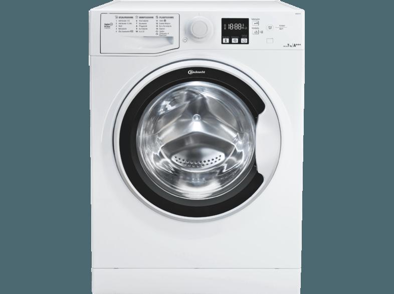 BAUKNECHT WA SOFT 7F4 Waschmaschine (7 kg, 1400 null, A+++)
