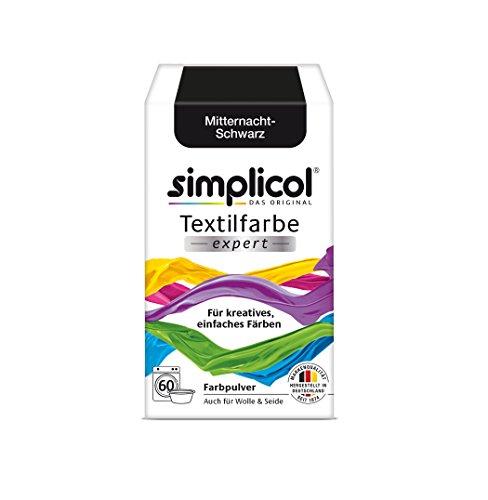Simplicol Textilfarbe Expert für Kreatives, Einfaches Färben, Mitternacht-Schwarz 1718: Farbe für Waschmaschine Oder manuelles Färben