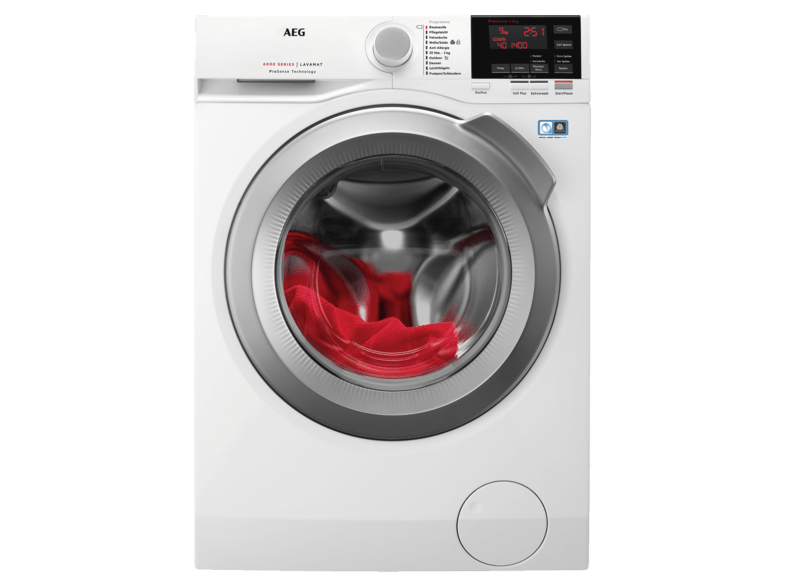 AEG L6FB67490 6000er Serie Waschmaschine (9 kg, 1400 U/Min., A+++)