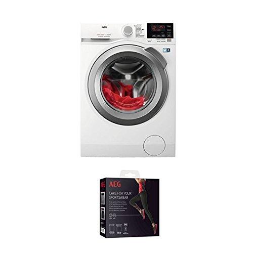 AEG L6FBA68 Waschmaschine Frontlader/Energieklasse A+++ (137,0 kWh/Jahr)/leise Waschmaschine mit 8 kg XXL ProTex Schontrommel + Kit für Sportbekleidung und Schuhe (9029797108)