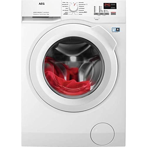 AEG L6FBA684 leise Waschhmaschine Frontlader / 156,0 kWh pro Jahr / Weiß / energieeffizienter Waschautomat mit Mengenautomatik / mit 8 kg XXL ProTex Schontrommel