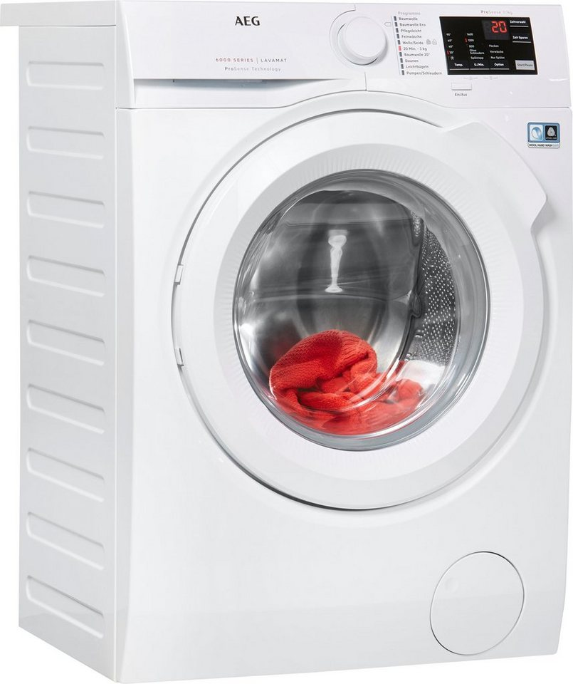 AEG Waschmaschine 6000 L6FB50470, 7 kg, 1400 U/Min