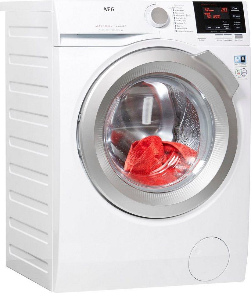 AEG Waschmaschine 6000 L6FB67490, 9 kg, 1400 U/Min