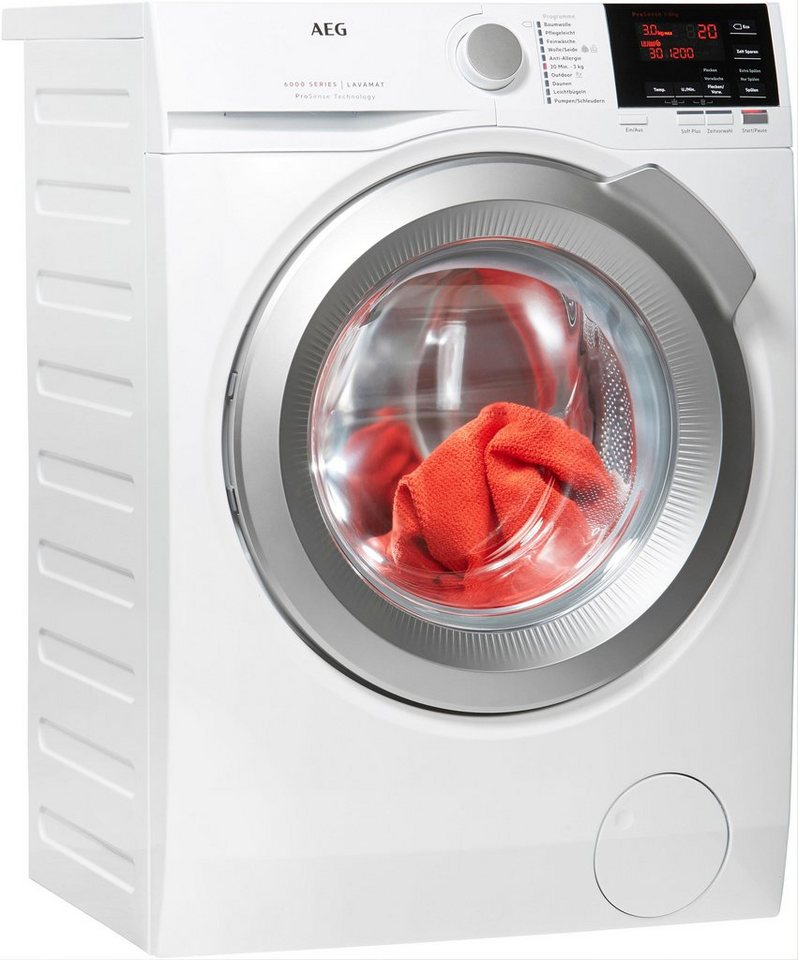AEG Waschmaschine 6000 L6FBA48, 8 kg, 1400 U/Min