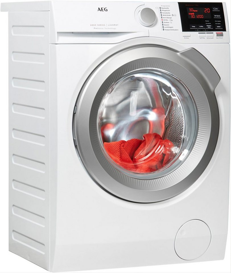 AEG Waschmaschine 6000 L6FBA68, 8 kg, 1600 U/Min