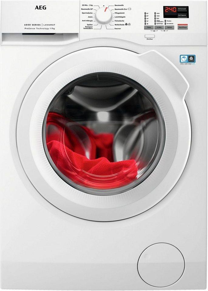 AEG Waschmaschine L6FBA674, 7 kg, 1600 U/Min