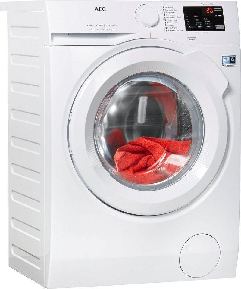 AEG Waschmaschine LAVAMAT L6FB54470, 7 kg, 1400 U/Min, ProSense