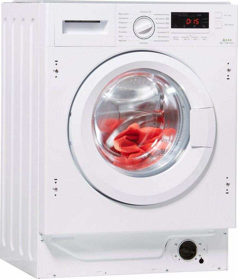 Amica Einbauwaschmaschine EWA 34657 W, 8 kg, 1400 U/Min