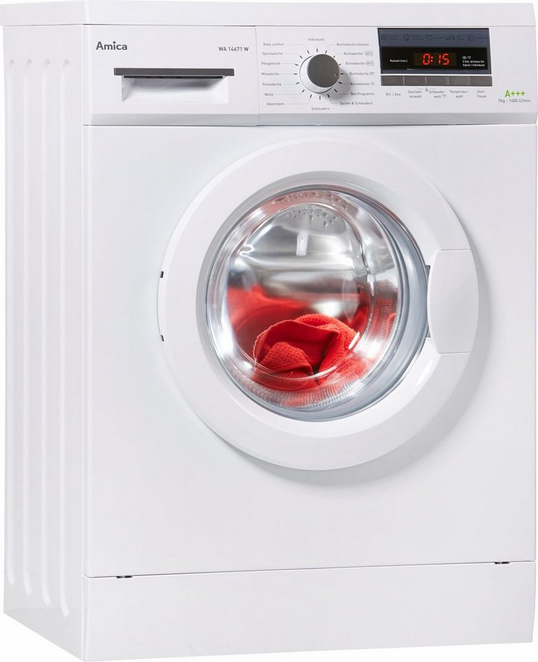 Amica Waschmaschine WA 14671 W, 7 kg, 1400 U/Min