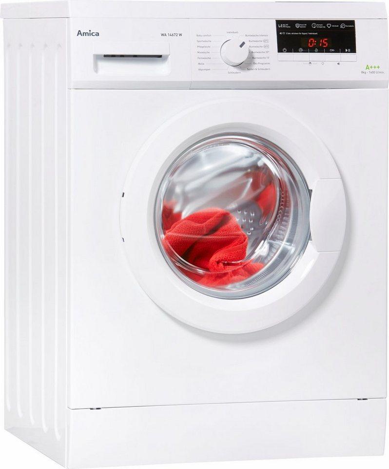 Amica Waschmaschine WA 14672 W, 8 kg, 1400 U/Min