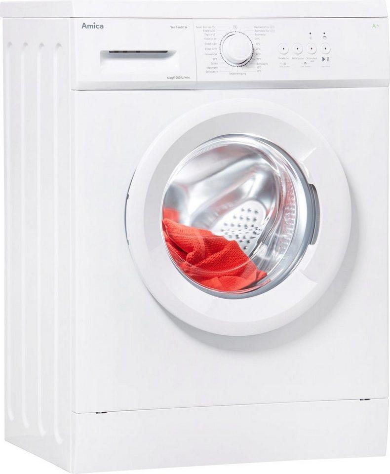 Amica Waschmaschine WA 14680 W, 6 kg, 1000 U/Min