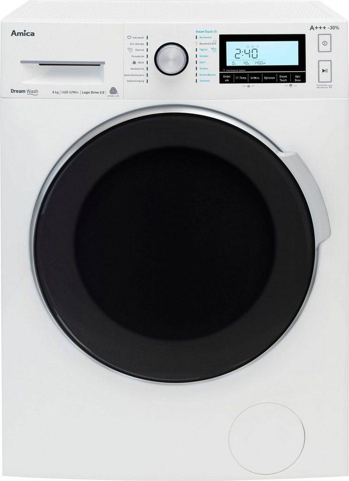 Amica Waschmaschine WA 484 100 W, 8 kg, 1400 U/Min