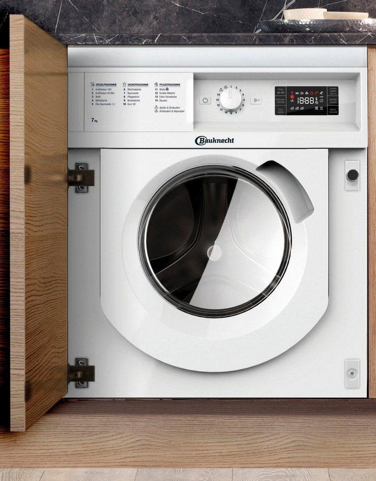 BAUKNECHT Einbauwaschmaschine BI WMBG 71484E DE, 7 kg, 1400 U/Min