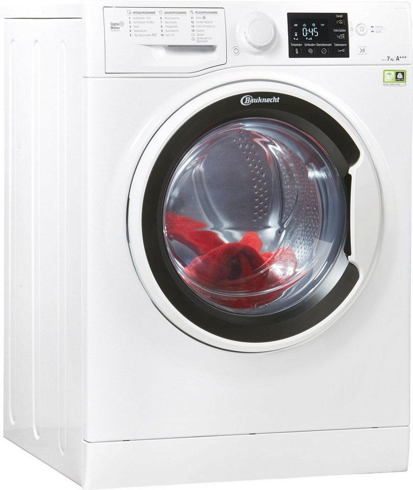 BAUKNECHT Waschmaschine Super Eco 7418, 7 kg, 1400 U/Min, inkl. 4 Jahre Herstellergarantie