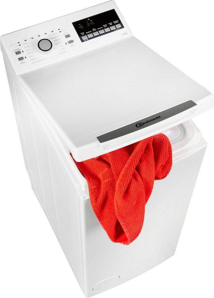 BAUKNECHT Waschmaschine Toplader WAT 6312, 6 kg, 1200 U/Min