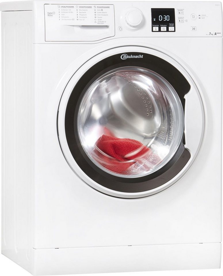 BAUKNECHT Waschmaschine WA Soft 7F4, 7 kg, 1400 U/Min