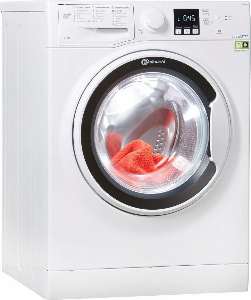 BAUKNECHT Waschmaschine WA SOFT 8F42PS, 8 kg, 1400 U/Min