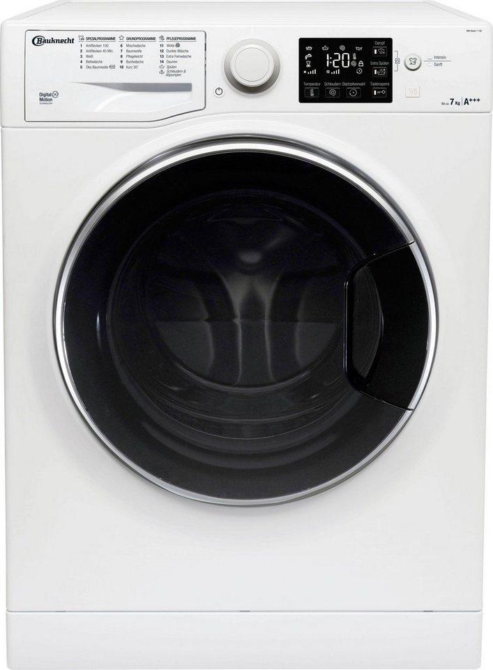 BAUKNECHT Waschmaschine WM STEAM 7 100, 7 kg, 1400 U/Min, 4 Jahre Herstellergarantie