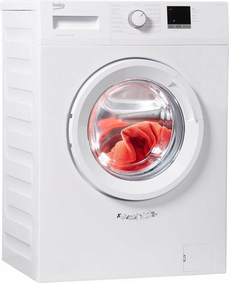 BEKO Waschmaschine WML 16106 N, 6 kg, 1000 U/Min