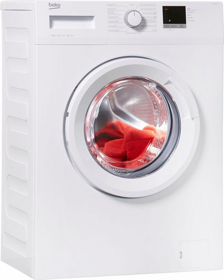 BEKO Waschmaschine WML 61023 N, 6 kg, 1000 U/Min