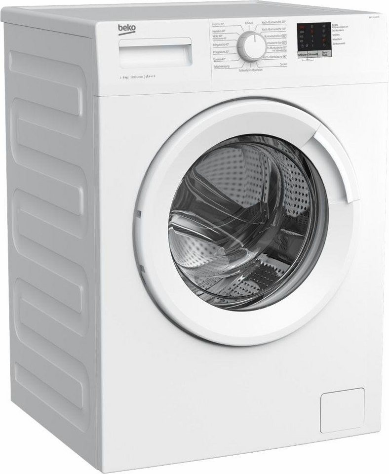 BEKO Waschmaschine WML 61223 N, 6 kg, 1200 U/Min