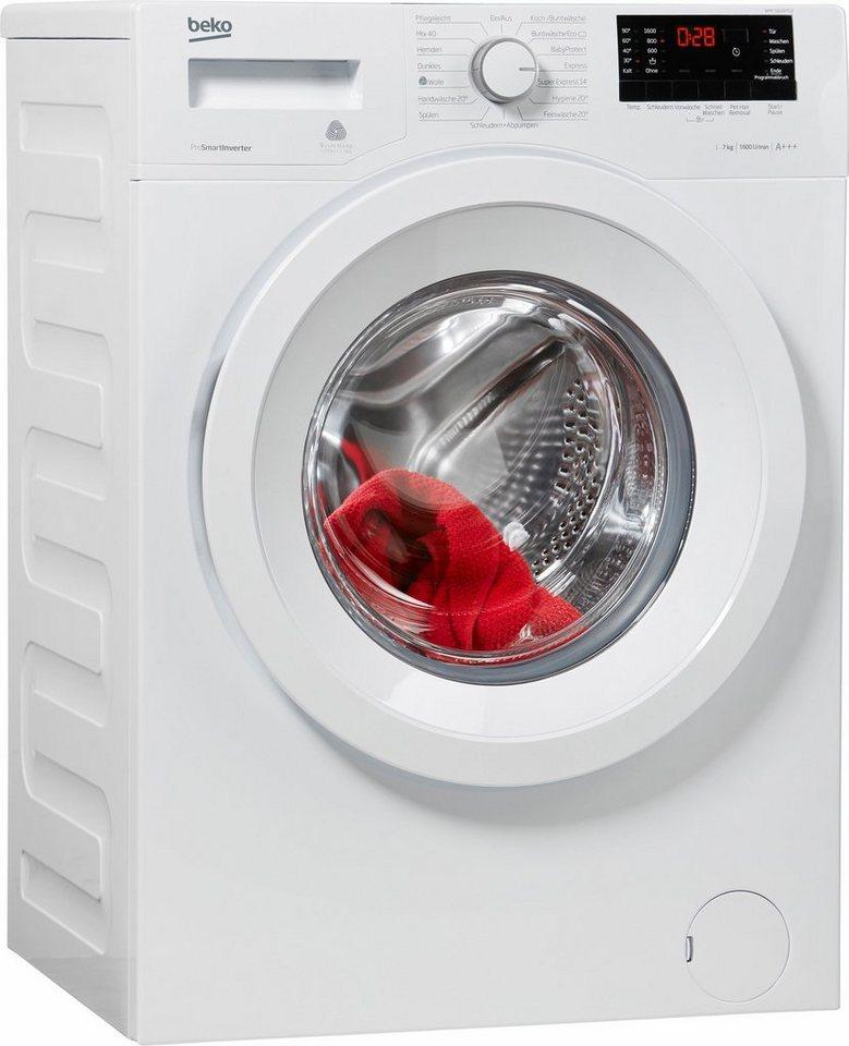 BEKO Waschmaschine WMY 71633 PTLE, 7 kg, 1600 U/Min