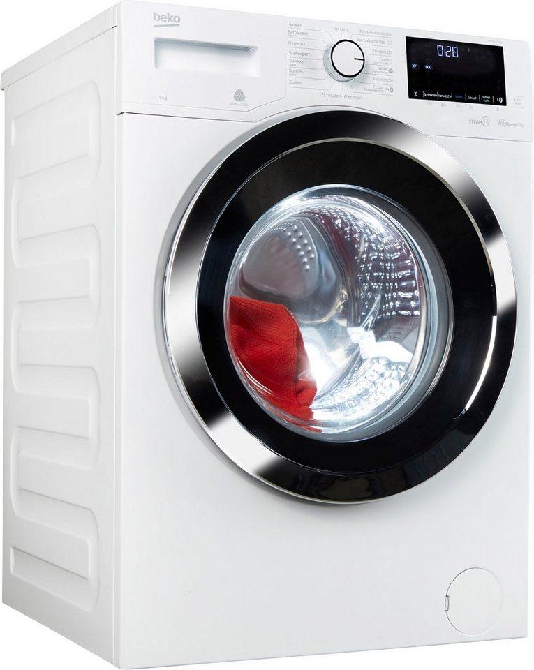 BEKO Waschmaschine WMY91464ST, 9 kg, 1400 U/Min