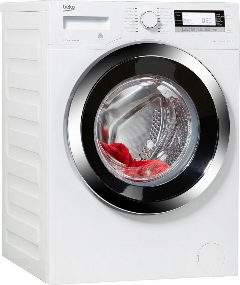 BEKO Waschmaschine WYA 81643 LE, 8 kg, 1600 U/Min