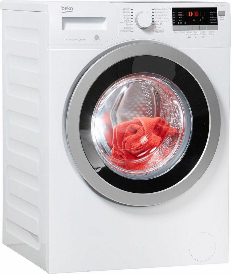 BEKO Waschmaschine WYAW 714831 LS, 7 kg, 1400 U/Min