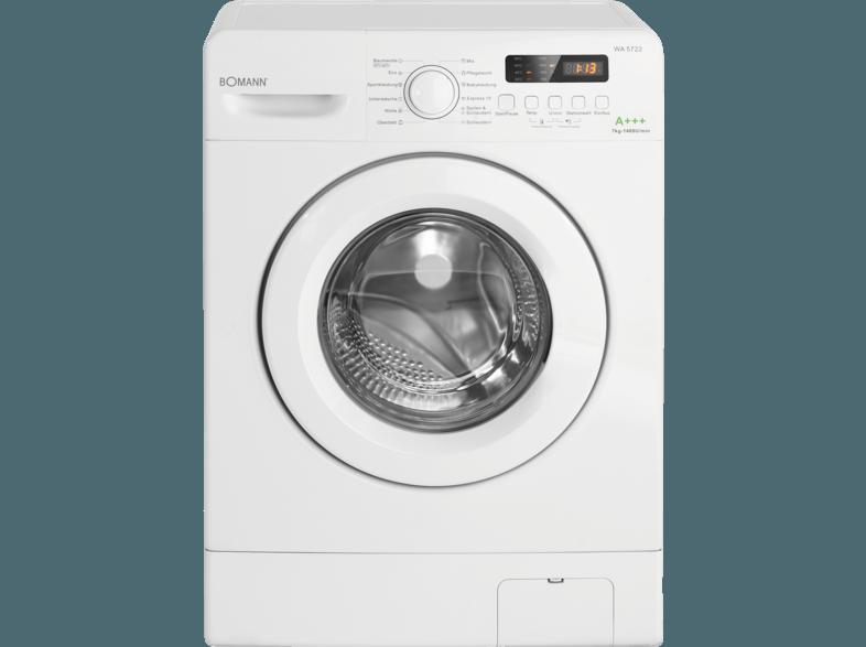 BOMANN WA 5722 Waschmaschine (7 kg, 1400 U/Min., A+++)
