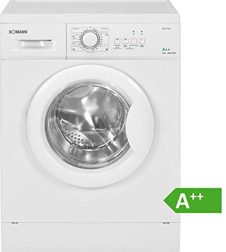 Bomann WA 5728 Waschmaschine Frontlader/EEK A++/6 kg/10 Programme+Zusatzoptionen/1000 UpM/Schaumregulierung/weiß