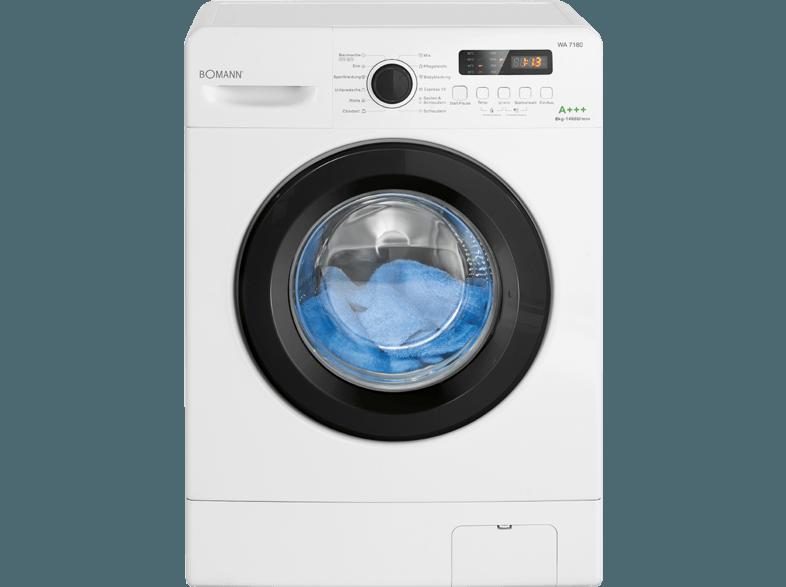 BOMANN WA 7180 W Waschmaschine (8 kg, 1400 U/Min., A+++)