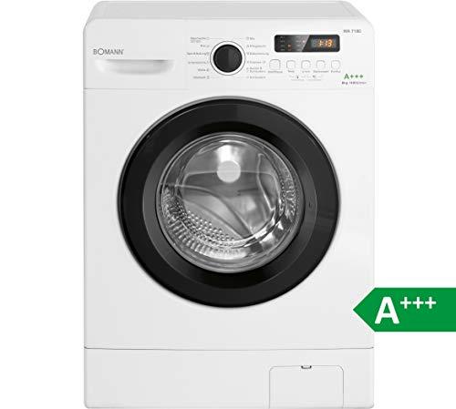 Bomann WA 7180 Waschmaschine/A+++ / 195 kWH/Jahr / 1400 UpM / 8 kg Fassungsvermögen / 1200 L/Jahr/weiß
