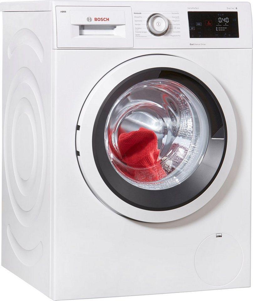 BOSCH Waschmaschine Serie 6 WAT286V0, 8 kg, 1400 U/Min, i-Dos Dosierautomatik