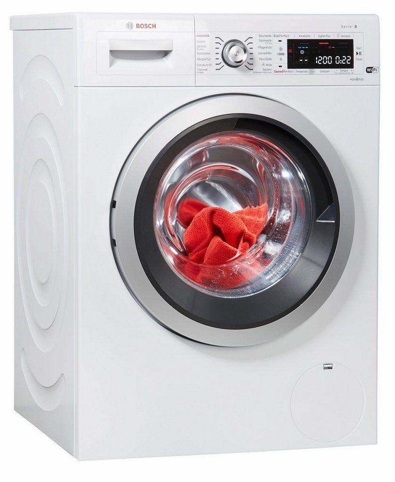 BOSCH Waschmaschine Serie 8 WAWH8640, 8 kg, 1400 U/Min, i-DOS Dosierautomatik