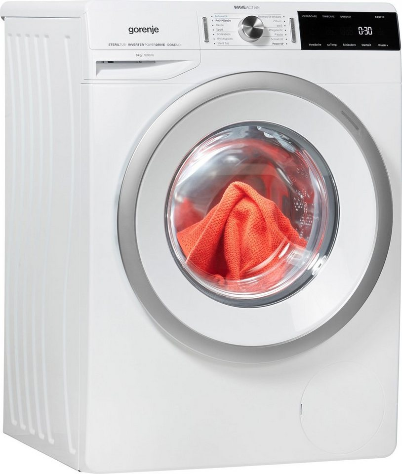 GORENJE Waschmaschine WA 866 T, 8 kg, 1600 U/Min