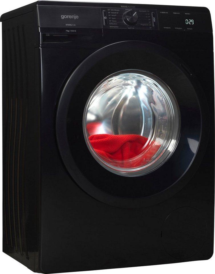 GORENJE Waschmaschine WE74S3PB, 7 kg, 1400 U/Min